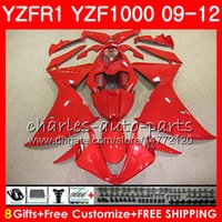 Cuerpo para YAMAHA YZF 1000 R 1 YZFR1 09 10 11 12 ALL Stock Stock Carrocería roja 85NO2 YZF1000 YZF R1 2009 2010 2011 2012 YZF-1000 YZF-R1 09 12 Carenado