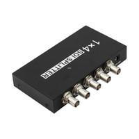 Livraison gratuite de haute qualité SDI Splitter 1x4 Multimédia Split SDI Extender Adapter Support 1080P TV Vidéo pour Projecteur Moniteur Caméra