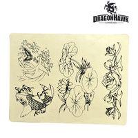 Suministros de tatuaje Práctica de tatuajes Piel sintética Piel sintética de diseño 8 x 6 para práctica WS031-2