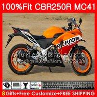 Injection Pour HONDA CBR300R CBR250R Repsol orange MC41 11 12 13 14 15 9NO5 CBR250 R CBR 250R 300R CBR 250 R 2011 2012 2014 2014 2015 Carénage