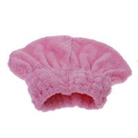 Neu kommen Home Textile Nützliche Trockenes Haar Hut Mikrofaser Haar Turban schnell trockenes Haar Hut eingewickelt Handtuch Badekappe