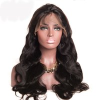 Pre Plucked Glueless Peruvian Full Lace Human Hair Wigs With...