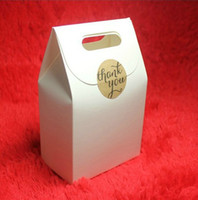 zakka White Paper Gift Box Craft Box Bag with Handle Candy B...