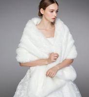 Casacos de Casamento de Inverno Envoltório de Fala Do Brown Envoltório Quente Shawls Outerwear Black Borgonha Branco Estilo Coreano Mulheres Jaqueta Prom Noite Party H08