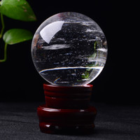 50-60 mm trasparente sfera di cristallo fusione pietra di cristallo sfera di cristallo artigianato di guarigione casa docoration regalo di arte