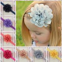 50 шт. 2,5 дюйма мода цветок оголовье девушка полые ткани цветок волос группа ребенок девочка новорожденный цвет волос 15 цвет TO344
