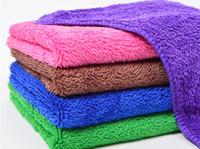 Plüsch-Mikrofaser-Tuch Wachstuch Hochstapelmicrofiber Auto-Reinigungstücher weichen Handtuch Lappen absorbieren Maschine waschbar