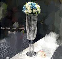Düğün dekorasyon akrilik kristal ayağı koridor yol kurşun led ışık masa centerpieces ev düğün otel partisi için