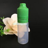 15000pcs e flüssige Flasche 10ml PE leere Flasche mit kindersicherer manipulierter offensichtlicher Kappe und langer dünner Spitze für eliquid ejuice Plastikflaschen
