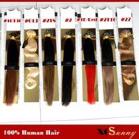 "XCSUNNY 18"" 20"" U Spitze Fusion Haar-Verlängerung 100g Helle Farben-Nagel-U Spitze-Haar-Verlängerungen Keratin Fusion U Spitze-Haar-Verlängerungen"