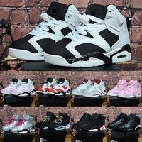 Retro 6 Black Blue White Kids Jam Basketball shoes Girls Boy...