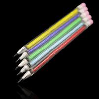 3D 스타일 왁스 석유 굴착 연필 모양 Dabber 도구 펜 Dabber 유리 봉 파이렉스 유리 Dabber 연필 도구 유리 기억 만