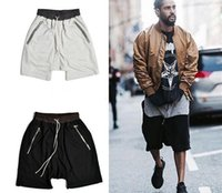 Fashion Kanye west Hip hop Zipper pocket Sport short pants c...
