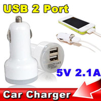 Wholesale- Promotion!! Car usb charger 5V 2A Dual USB Car Ch...