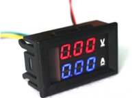 100V 10AデジタルDC4.5V-30V電圧計電流電位0.28 '' LEDテスターチャージャー電流電池電源容量検出