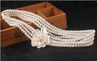Cinturón de boda Cinturón Accesorios nupciales Pearls Peludes Elásticos Vestido de noche Encantador Vestido de noche Cinturones de boda Bridal Bodas Suministros WWL