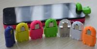 Мода Android Робот форма ТВ Micro USB к USB OTG Адаптер для Android Tablet PC Смартфон Фаблет с 8 цветами