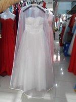 شحن مجاني بالجملة شفاف فستان الزفاف غطاء الغبار omniseal اضافية كبيرة pvc ملابس الزفاف حقيبة الملابس فساتين الزفاف غطاء الغبار