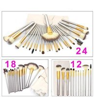 12 18 24 Pcs Professional Makeup Brushes Set Soft Synthetic ...