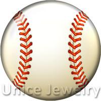 AD1301233 12,18,20mm Snap On Charms per collana Bracciale Vendita calda FAI DA TE Risultati Bottoni a pressione in vetro Gioielli Baseball Design Noosa