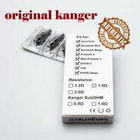 Kangertech Protank3 için 100% Orijinal Kanger Çift Bobinleri Mini Aerotank Mega Mini turbo EVOD 2 T3D genitank topevod Atomizer otantik