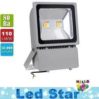 100W 2x50w светодиодные прожекторы 9000 люмен супер яркий водонепроницаемый открытый светодиодные прожекторы теплый / холодный белый AC 85-265 в