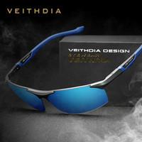 Wholesale- veithdia الألومنيوم المغنيسيوم الرجال النظارات المستقطبة الرياضة القيادة نظارات الشمس oculos الذكور نظارات شمسية للرجال 6589