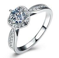الشحن مجانا! فاخر 6.5 ملليمتر مقلد خواتم الماس للنساء الفضة الاسترليني مبالغ فيها خواتم سونا خاتم الزواج الماس