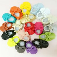 Leather Baby moccasins soft sole 100% genuine leather first ...