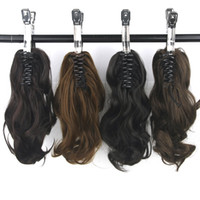 Wavy Synthetic High Temperature Fiber Hair Claw Ponytail Lit...