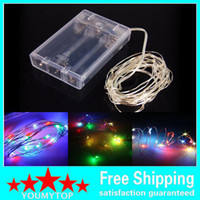 4.5V Led Silver Copper Wire String Lights Battery Powered Fairy Lights String for Wedding Event Party Decoration