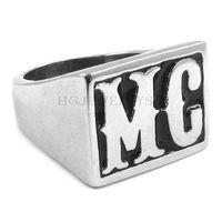Бесплатная доставка! Мотоциклы байкер MC кольцо из нержавеющей стали кольцо ювелирные изделия классический панк мотор байкер мужчины кольцо SWR0257H