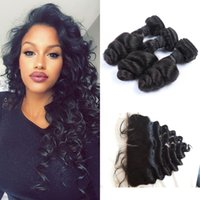 Free Shipping 3 Bundles with 13x4 Closure Full Lace Human Pa...