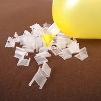 """4000pcs / mycket transparent """"v"""" form tätning klipp ballonger plastklipp barn födelsedagsfest bröllop festival dekoration tillbehör lz0687"""