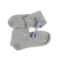 Elektrodenmassage Socken TENS Unit Füße Schmerzen EMS Elektronische Impulsmassagegerätschocktherapie mit Draht durch DHL