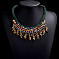 Hot sale new arrival big brand necklace Multi- layer beads ta...