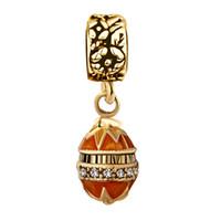 Folha de bordo colorido Faberge ovo Dangle Beads encantos de metal slide talão europeu espaçador charme fit pulseira Pandor