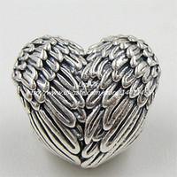 2015 automne nouvelle 925 Sterling SilverAngelic Feathers perle de charme convient à Pandora européenne bijoux Bracelets Collier