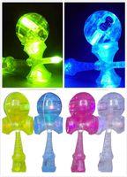 Großhandels-Fachmann! Verkauf 5pieces der Größe: 18.5 cm seien Sie vergnügt japanisches traditionelles LED-Blitzspiel-Spielzeug Kendama