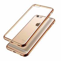 """Ультра-тонкий мягкий TPU гальванических чехол для iPhone 6S Plus 5.5"""" Противоударно Силиконовый чехол Soft Shell для iPhone6 плюс"""