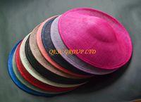 Alta qualità sinamay rilegatura grande piattino sinamay base copricapo cappello artigianale, per derby, gare, party, matrimonio