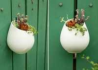 Ceramic flower pots planters decorative vases wall hanging v...