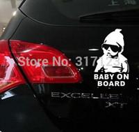 (50 peças / lote) Bebê a bordo decalque de vinil / etiqueta engraçado caminhão janela do carro laptop