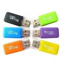 300 шт. / лот Оптовая мобильный телефон кард-ридер TF кард-ридер небольшой многоцелевой высокоскоростной USB SD кард-ридер
