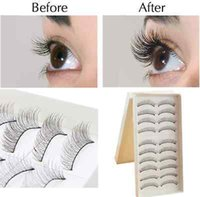 False Eyelash 10 Pairs Black Fashion Beauty Makeup Handmade ...
