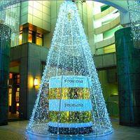 Новый 3 м х 5 м 480 LED дома открытый праздник Рождество декоративные свадебные рождественские строки Фея занавес гирлянды полосы партии огни