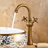 Antique Brass Faucets Bathroom Basin Brass Sink Faucet Crane...