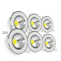 2016 New arrival led downlight genuíno material de alumínio cob downlight com alta qualidade lâmpada led 3 w 7 w recesso teto spotlight AC100-240