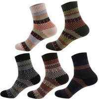 22777109c72ed Men Wool Socks Vintage Winter Thicken Socks Rabbit Wool Crew Autumn Soft  Warm Socks 5 Styles OOA3650
