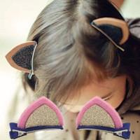 bf68c92f0baf3 4 pc new orecchiette hairband grampos hairpin acessórios para o cabelo  bonito estéreo clipe de orelha